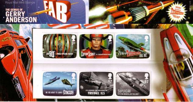 Stamp Image: view larger back view image for The Genius of Gerry Anderson - Thunderbirds<br/>