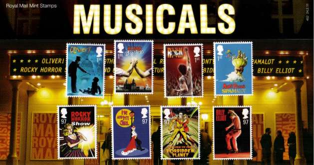 Stamp Image: view larger back view image for Musicals