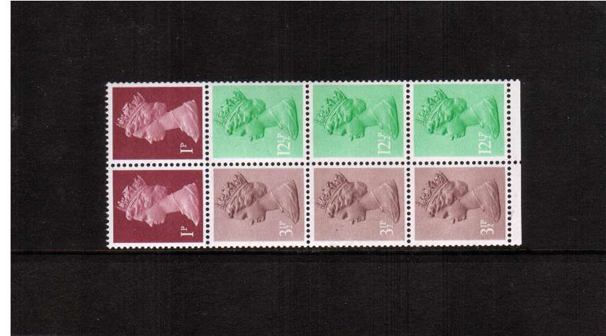 view larger image for SG X845nEy (1983) - The 50p booklet pane with PHOSPHOR OMITTED superb unmounted mint.