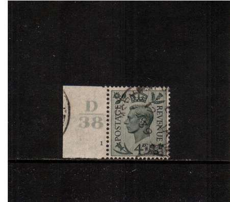 view larger image for SG 468var (1938) - 4d Grey-Green. A fine used Cylinder single<br/>showing