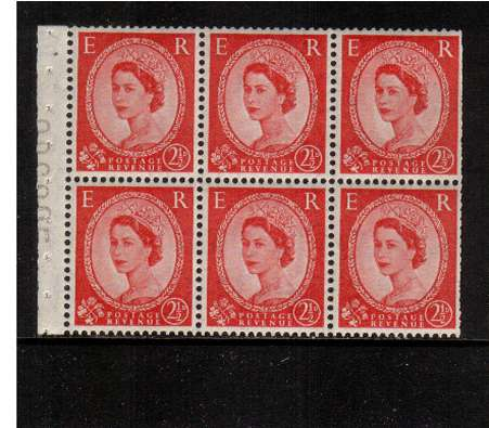 view larger image for SG SB80 (1953) - 2�d Carmine-Red - Watermark Tudor Crown.<br/>A superb 