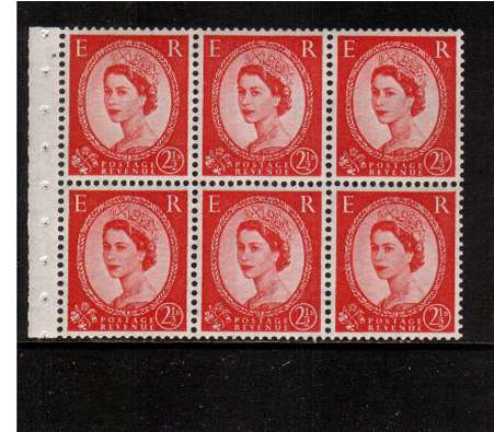view larger image for SG SB80 (1953) - 2�d Carmine-Red - Watermark Tudor Crown.<br/>