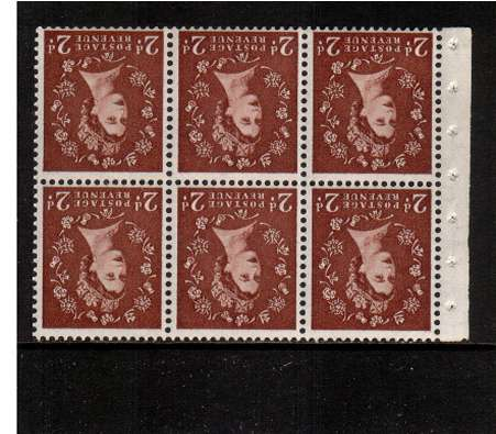 view larger image for SG SB78a (1957) - 2d Light Red-Brown - Watermark Edward Crown.<br/> A superb 