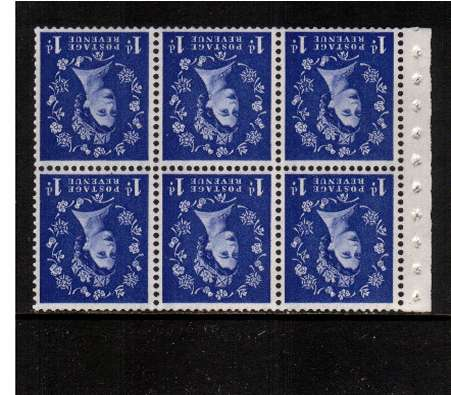 view larger image for SG SB39a (1959) - 1d Ultramarine - Multiple Crowns - GRAPHITE.<br/> A superb 