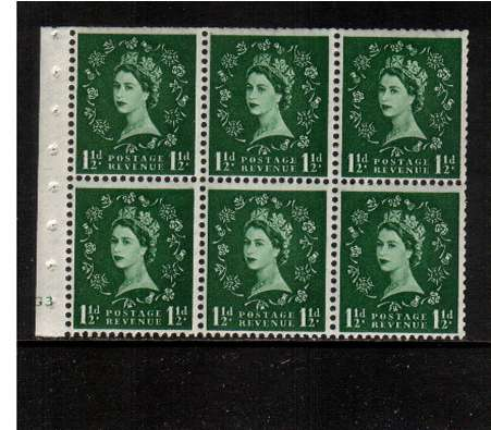 view larger image for SG SB59 (1953) - 1�d Green - Watermark Tudor Crown.