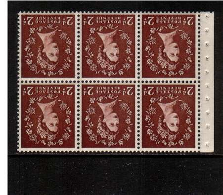 view larger image for SG SB76a (1954) - 2d Red-Brown - Watermark Tudor Crown.<br/> A superb 