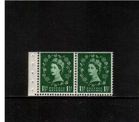 view larger image for SG SB64 (1957) - 1�d Green - Watermark Edward Crown.<br/> A superb 