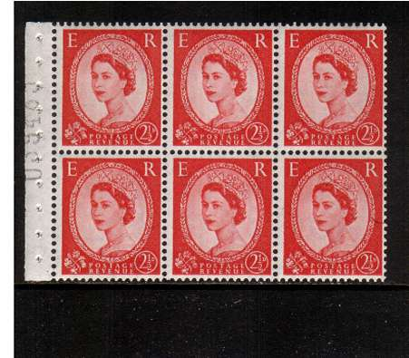 view larger image for SG SB81 (1955) - 2�d Carmine-Red - Watermark Edward Crown.<br/> A superb 