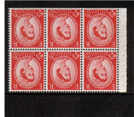 view larger image for SG SB81a (1955) - 2�d Carmine-Red - Watermark Edward Crown.<br/>