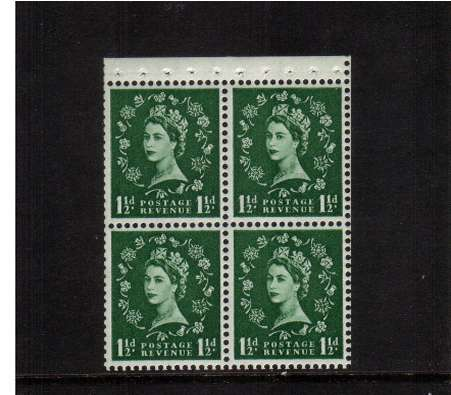 view larger image for SG SB67 (1959) - 1�d Green - Watermark Miltiple  Crowns.<br/>