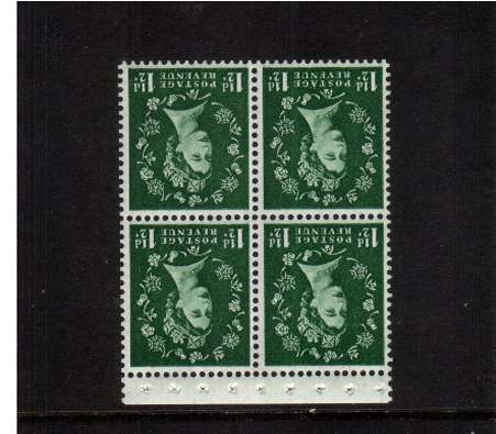 view larger image for SG SB67a (1959) - 1�d Green - Watermark Multiple  Crowns.<br/>