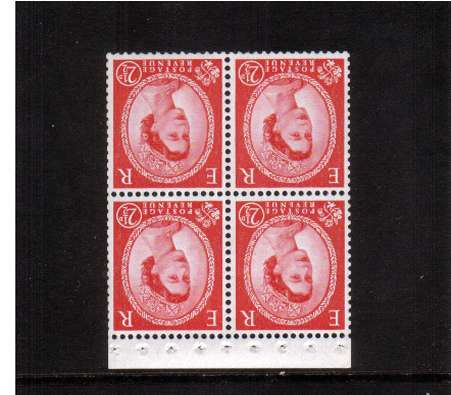 view larger image for SG SB84a (1963) - 2�d Carmine-Red - Multiple Crowns Chalky Paper