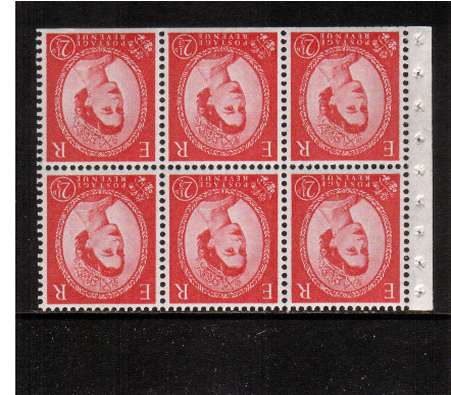 view larger image for SG SB82a (1958) - 2�d Carmine-Red - Watermark Multiple  Crowns.<br/>