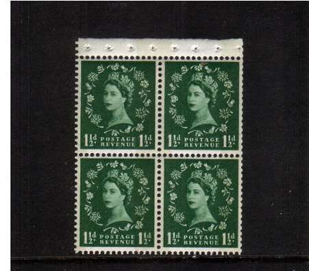 view larger image for SG SB68 (1961) - 1�d Green - Watermark Multiple Crowns to Left<br/> as seen from front.