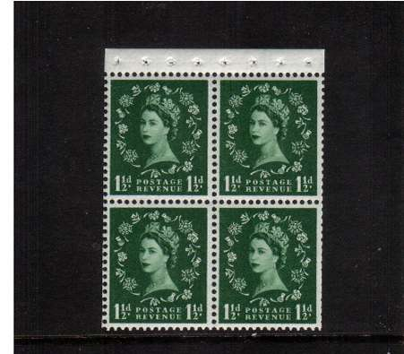 view larger image for SG SB68a (1961) - 1�d Green - Watermark Multiple Crowns.<br/>