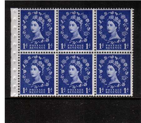 view larger image for SG SB39 (1959) - 1d Ultramarine - Multiple Crowns - GRAPHITE.<br/>