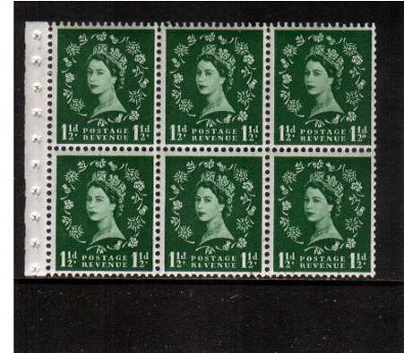 view larger image for SG SB70a (1959) - 1�d Green - Watermark Multiple Crowns - GRAPHITE<br/>