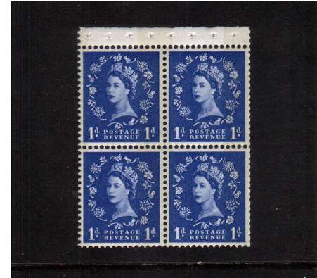 view larger image for SG SB43 (1961) - 1d Ultramarine  - Multiple Crowns - PHOSPHOR<br/>