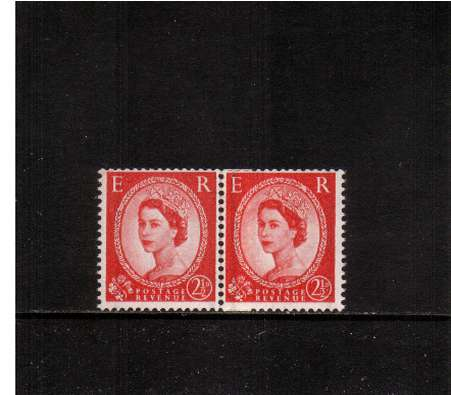 view larger image for SG 565var (1957) - 2�d Carmine-Red - Watermark Edward - GRAPHITE LINES<br/>