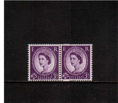 view larger image for SG 566var (1957) - 3d Violet  - Watermark Edward - GRAPHITE LINES<br/>