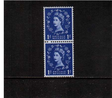 view larger image for SG 571var (1958) - 1d Ultramarine - Watermark Multiple Crowns<br>