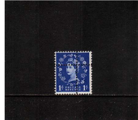 view larger image for SG 571var (1959) - 1d Ultramarine - Watermark Multiple Crowns<br/>