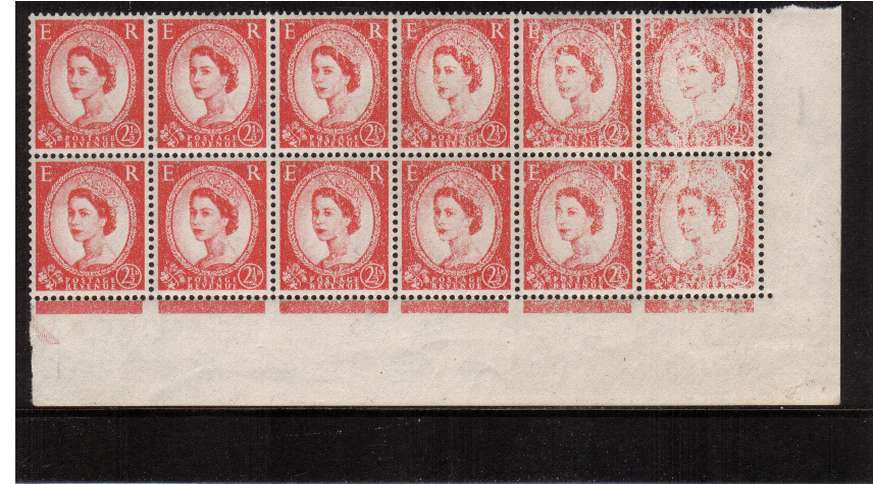 view larger image for SG 574var (1959) - 2�d Carmine-Red - WAtermark Multiple Crowns<br/>