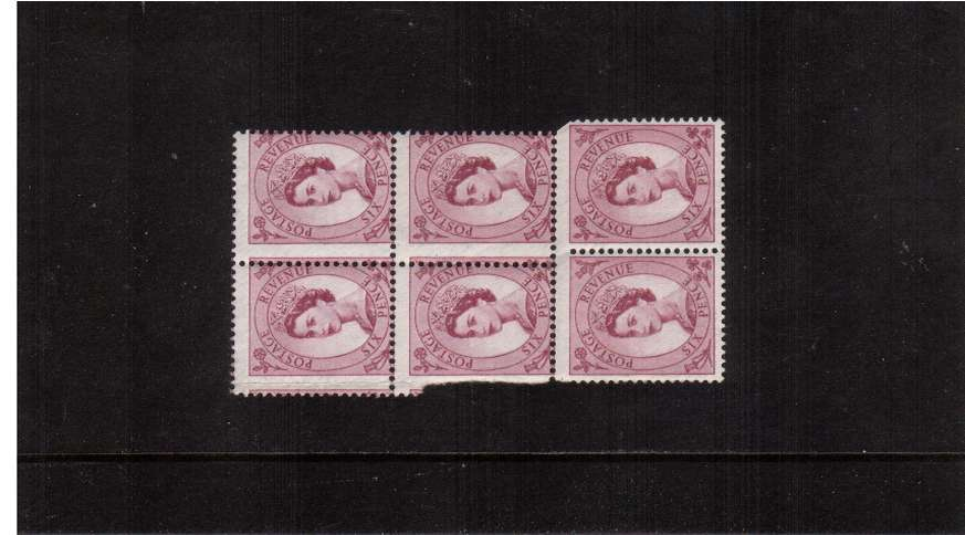 view larger image for SG 579var (1958) - 6d Purple - Watermark Multiple Crowns<br/>
