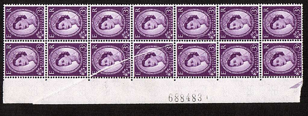 view larger image for SG 575var (1958) - 3d Deep Lilac - Watermark Multiple Crowns<br/>