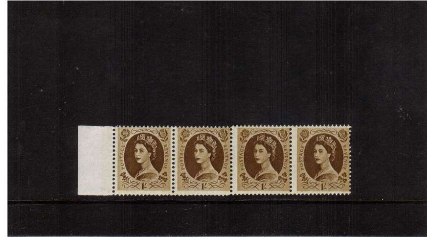 view larger image for SG 617e (1967) - 1/- Bistre-Brown - PHOSPHOR<br/>