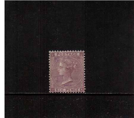 view larger image for SG 84 (1862) - 6d Lilac - Plate 3 - with No Hairlines<br/>A superb unmounted mint stamp lettered ''C-K''. The stamp has a feint natural gum crease and has good centering, perforations and great colour. SG Cat �1700
