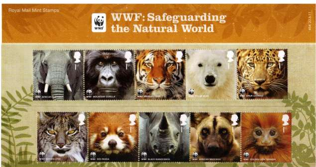 Stamp Image: view larger back view image for 50th Anniversary of WWF<br/>