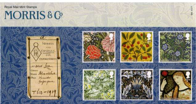 Stamp Image: view larger back view image for William Morris & Co.