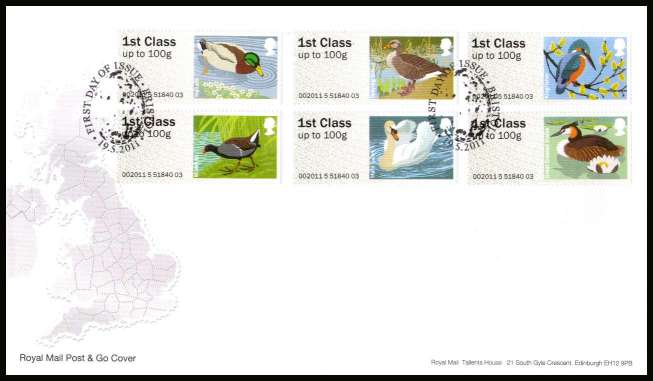 view larger back view image for ROYAL MAIL 'POST & GO' - Birds of Britain - 3rd Series<br/>