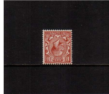 view larger image for SG 420Wi (1924) - 1�d Red-Brown<br/>A superb unmounted mint single with INVERTED WATERMARK. 
