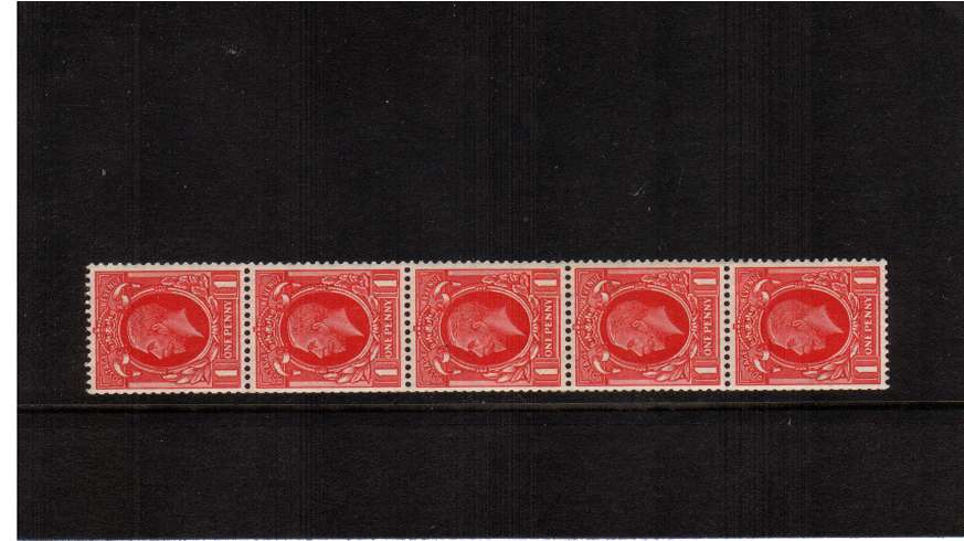 view larger image for SG 440v (1935) - 1d Scarlet - Small Format - 18.15mmx21.7mm<br/>