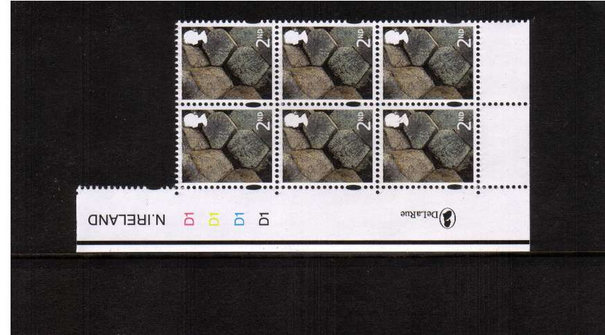 view larger image for SG NI122 (20 Sept 2007) - 2nd in a superb unmounted mint cylinder block of six showing cylinder numbers D1 D1 D1 D1