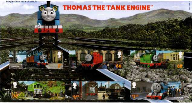 Stamp Image: view larger back view image for Thomas the Tank Engine<br/>