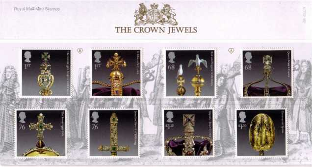 Stamp Image: view larger back view image for The Crown Jewels