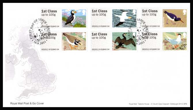 view larger back view image for ROYAL MAIL 'POST & GO' - Birds of Britain - 4th Series