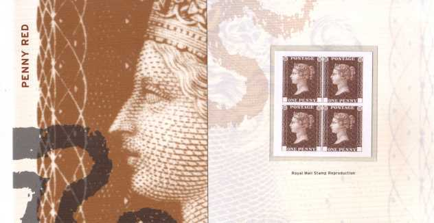 Stamp Image: view larger back view image for 1d Red OFFICIAL reproduction produced in a block of four with no corner letters on the stamps.