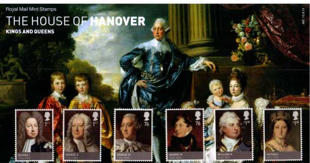 Stamp Image: view larger back view image for Kings and Queens - 5th Issue - House of Hanover<br/>