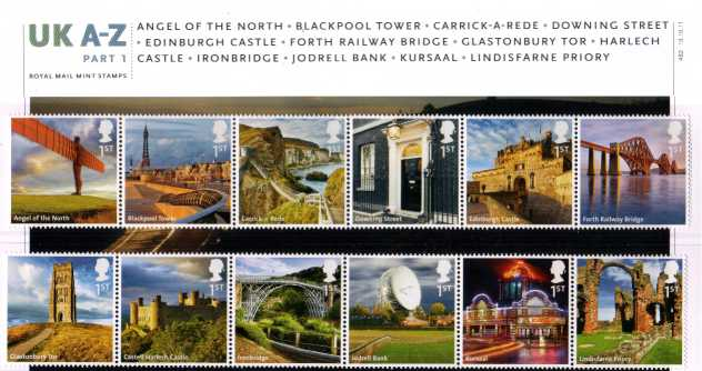 Stamp Image: view larger back view image for UK A-Z Part One