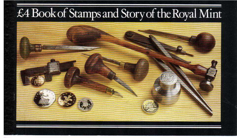 British Stamps Prestige Booklets Item: view larger image for SG DX4 (1983) - £4 - 'The Story of the Royal Mint'