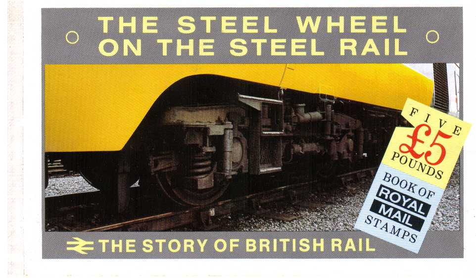 British Stamps Prestige Booklets Item: view larger image for SG DX7 (1986) - £5 - 'The Story of British Rail'