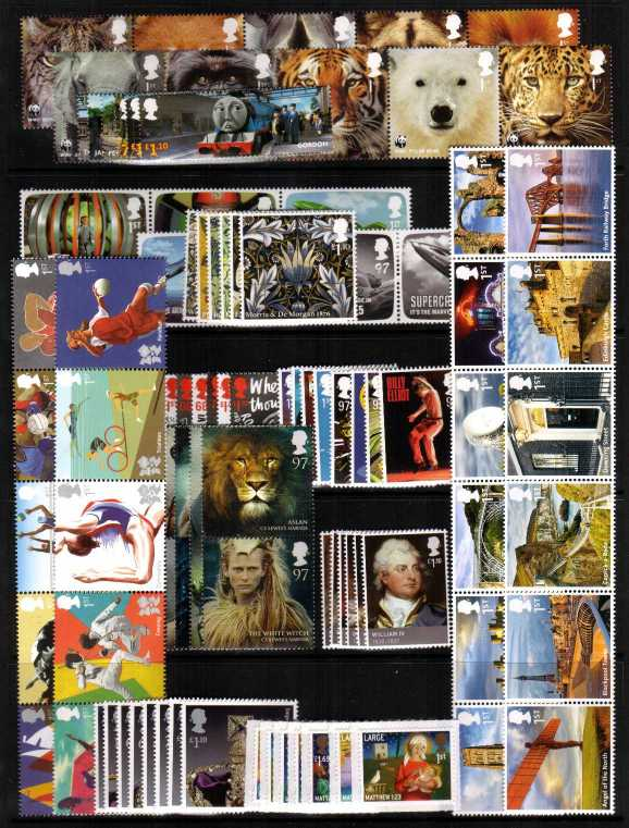view larger image for Commemorative Year Sets -  (2011) - 12 Sets - 93 stamps