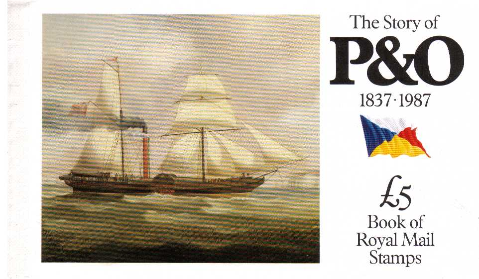 British Stamps Prestige Booklets Item: view larger image for SG DX8 (1987) - £5 - 'The Story of P&O'