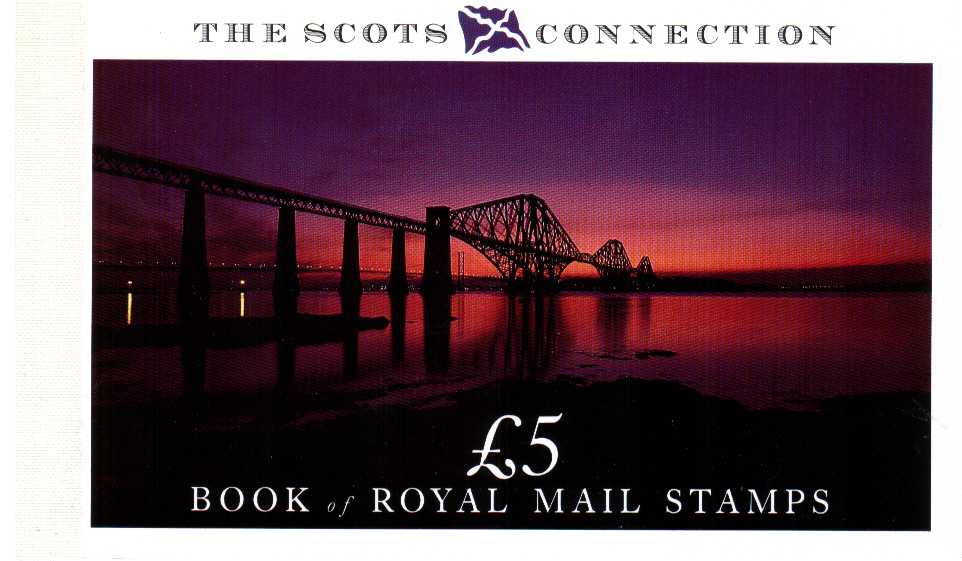 British Stamps Prestige Booklets Item: view larger image for SG DX10 (1989) - �5 - 'The Scots Connection'