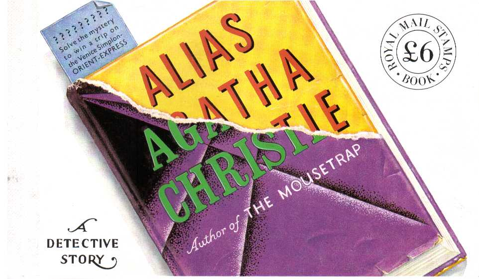 British Stamps Prestige Booklets Item: view larger image for SG DX12 (1991) - �6 - 'Alias Agatha Christie'
