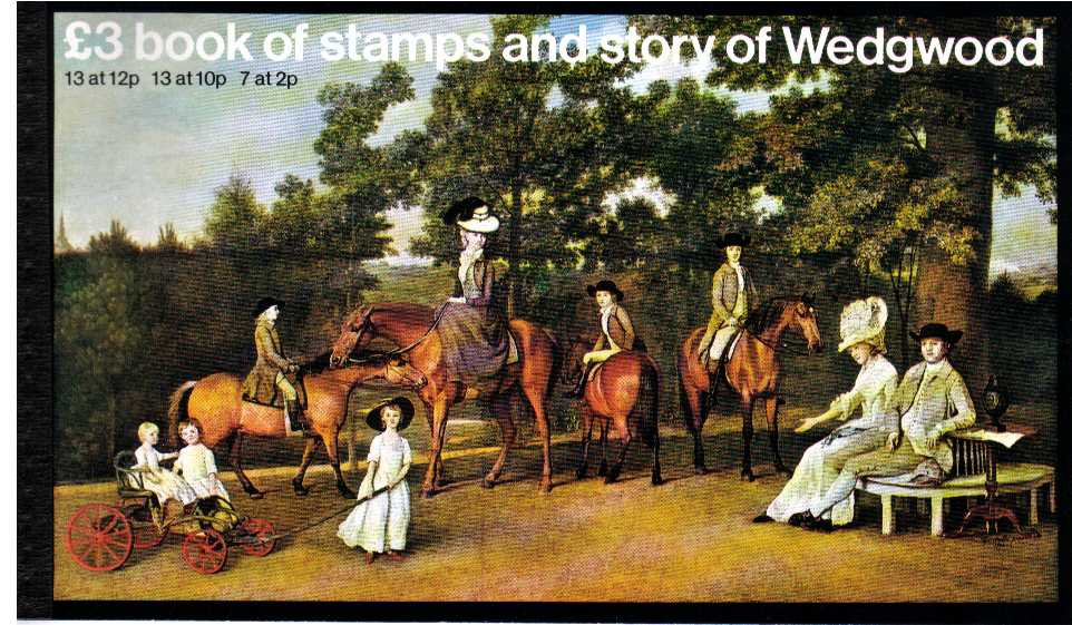 British Stamps Prestige Booklets Item: view larger image for SG DX2 (1980) - �3 - 'The Story of Wedgewood'